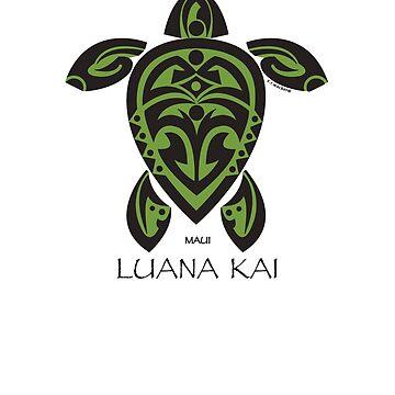 Black & Green Tribal Turtle Tattoo / Luana Kai by srwdesign
