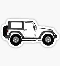 White Jeep Sticker