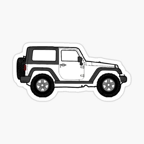 White Jeep Sticker