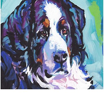 Bernese Mountain Dog Painting - Dog Art - Gift For Dog Lovers by Galvanized