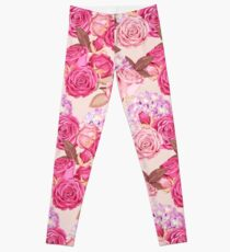 Pink Roses Illustration  Leggings