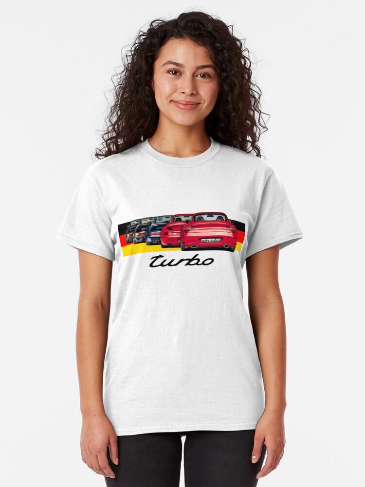 Alternate view of Shift Shirts Turbo Generations – 911 Turbo Inspired Classic T-Shirt