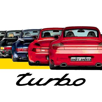 Shift Shirts Turbo Generations – 911 Turbo Inspired by ShiftShirts