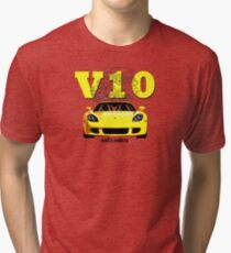 Shift Shirts V10 Music - Carrera GT Inspired Tri-blend T-Shirt