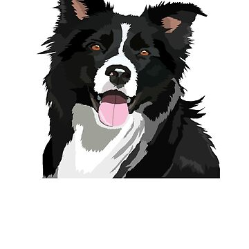 Border Collie Painting - Border Collie Shirt - Gift For Dog Lovers by Galvanized