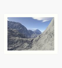 Mountainous landscape Art Print