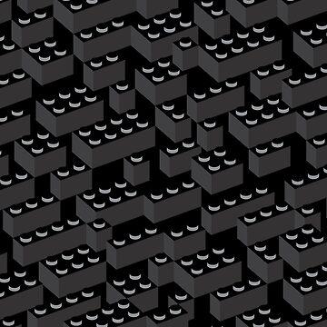 Building Blocks Pattern – Noir by polymolystudio