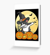 Dabbing Boston Terrier Halloween Dab Dance Greeting Card