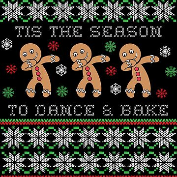 Cookie Baking Ugly Christmas Design - Dabbing Gingerbread by EstelleStar