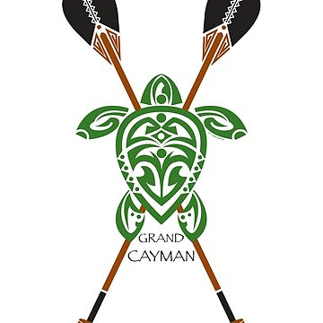 Green Tribal Turtle 2 Stand-Up / Grand Cayman by srwdesign