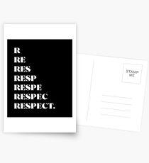 R-E-S-P-E-C-T Postcards
