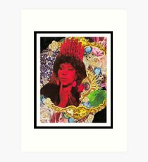 QUEEN ARETHA -BLACK BORDER Art Print