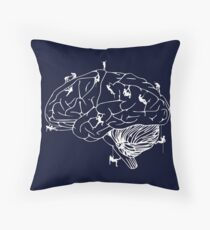 Climbing On The Brain Throw Pillow