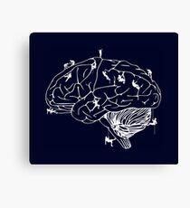 Climbing On The Brain Canvas Print