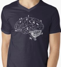 Climbing On The Brain Men's V-Neck T-Shirt