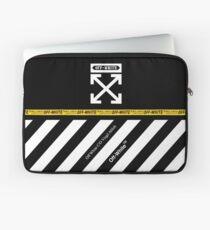 Off White Cover Full White Stripes Laptop Sleeve