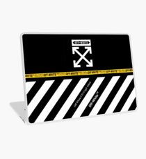 Off White Cover Full White Stripes Laptop Skin