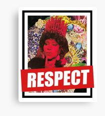 THE GREAT SOUL QUEEN - MISS FRANKLIN Canvas Print