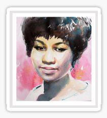 Queen in Watercolor - Black Sticker