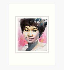Queen in Watercolor - Black Art Print