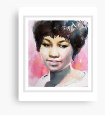 Queen in Watercolor - Black Canvas Print