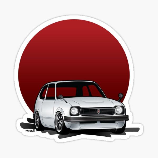 Honda Civic Heritage Shirt Sticker