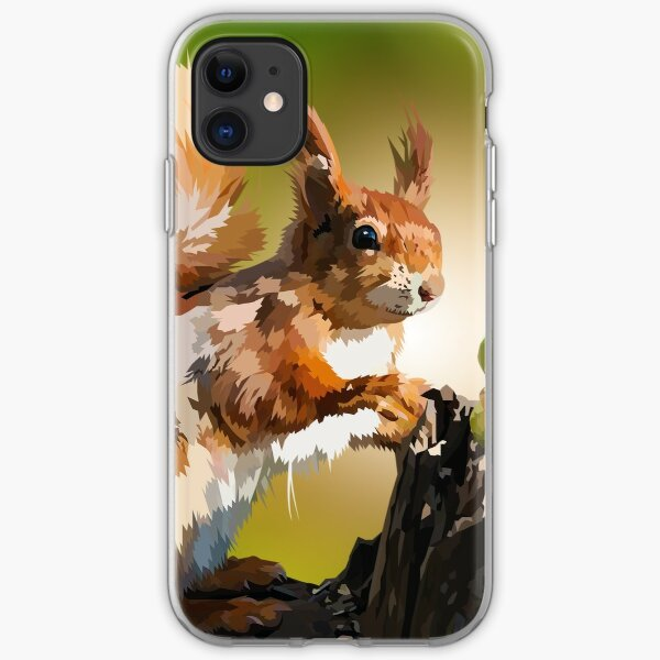 It's squirrel time! iPhone Soft Case