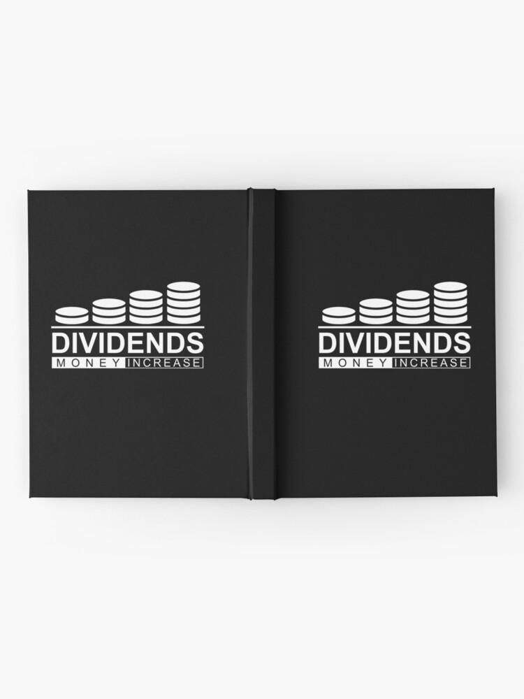 Alternative Ansicht von Dividends Money Increase Geld Dividende Aktien Notizbuch