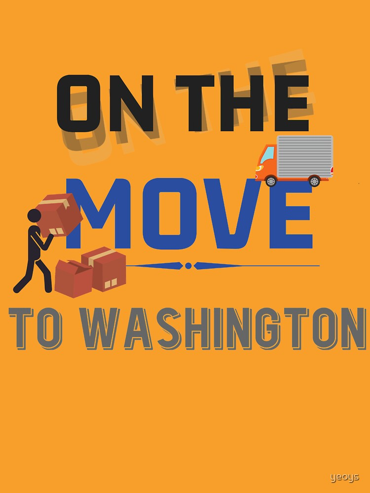 On the Move to Washington Moving State & House - Moving States Gift von yeoys
