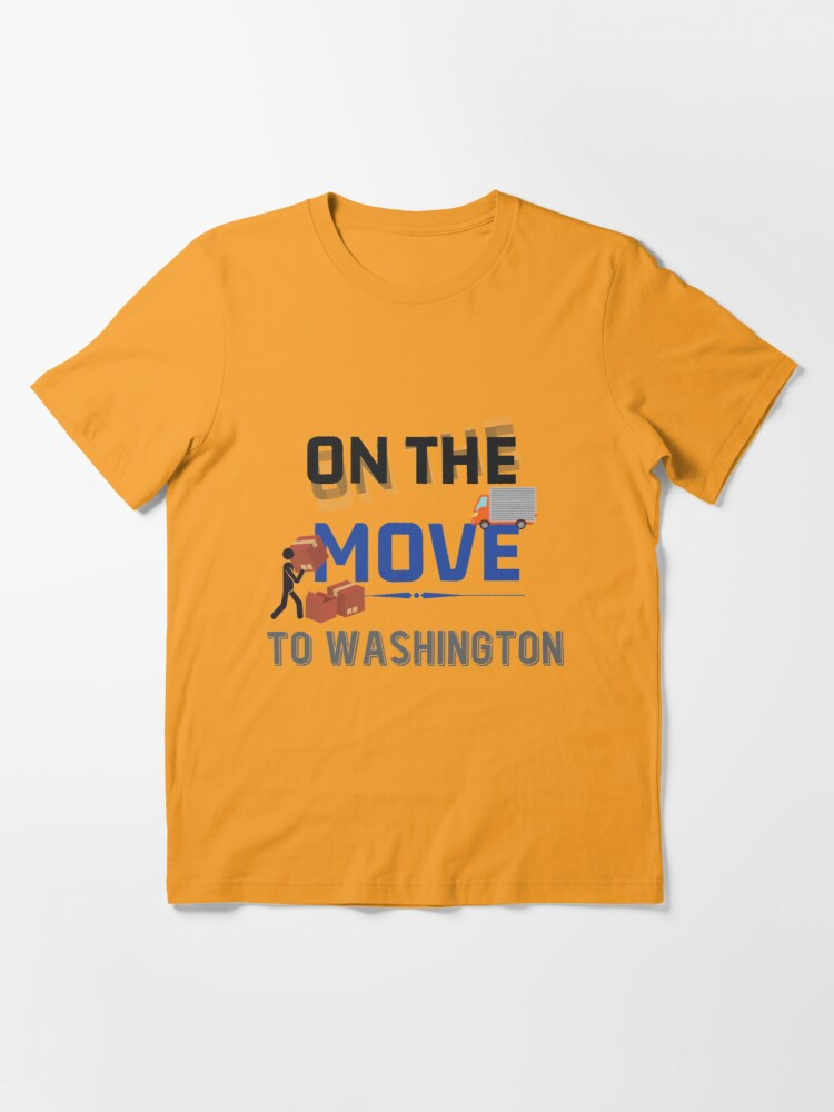 Alternative Ansicht von On the Move to Washington Moving State & House - Moving States Gift Essential T-Shirt