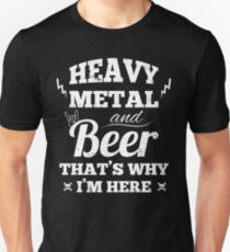 Heavy metal music and beer Slim Fit T-Shirt