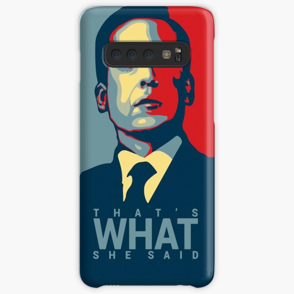 Das ist, was sie sagte - Michael Scott - das Büro US Hülle & Klebefolie für Samsung Galaxy