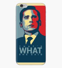 Vinilo o funda para iPhone Eso es lo que ella dijo - Michael Scott - The Office US