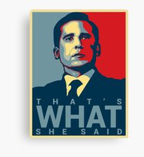 Lienzo Eso es lo que ella dijo - Michael Scott - The Office US
