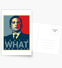 That's What She Said - Michael Scott - The Office US Postcards