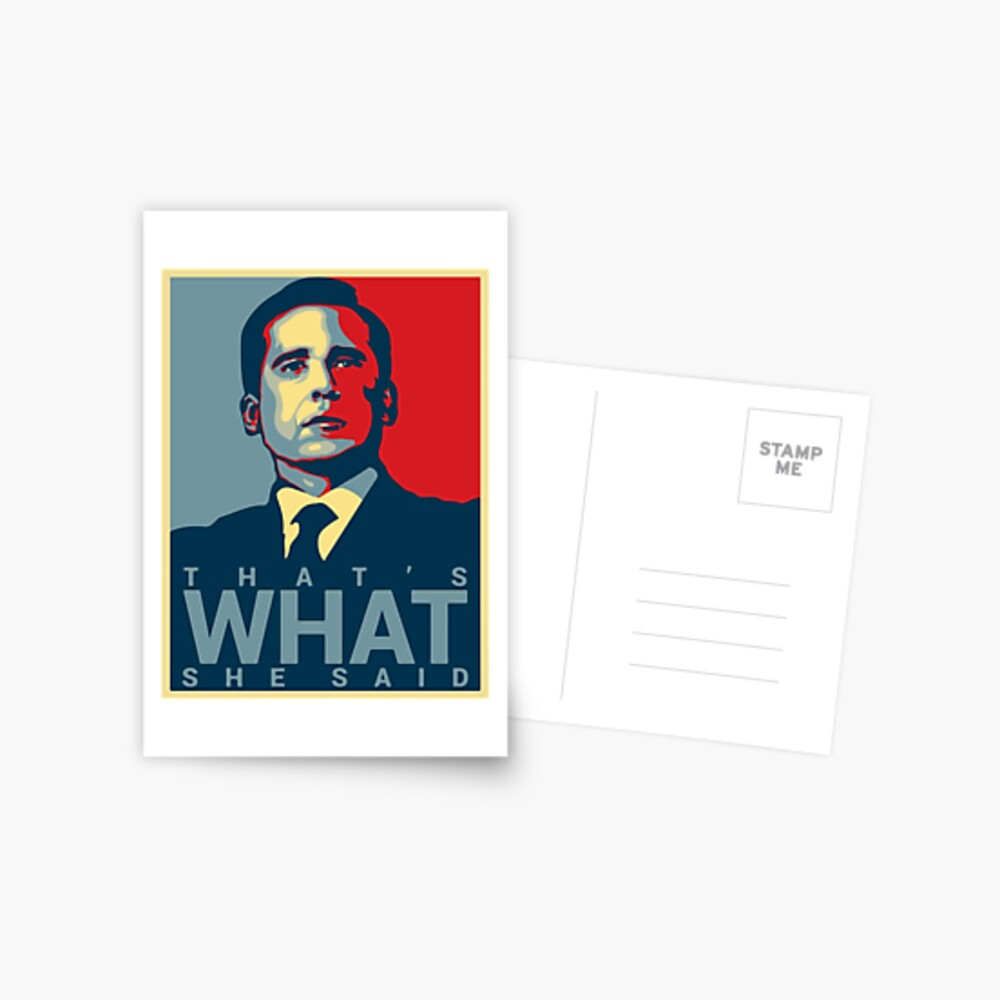 That's What She Said - Michael Scott - The Office US Postcard