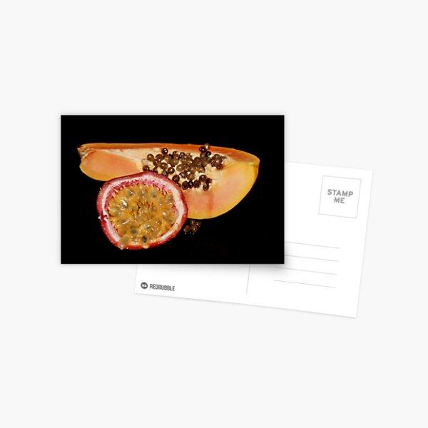 Papaya & Passion Fruit Postcard