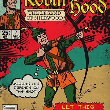 Robin Hood - Vintage Comic Book by moviemaniacs