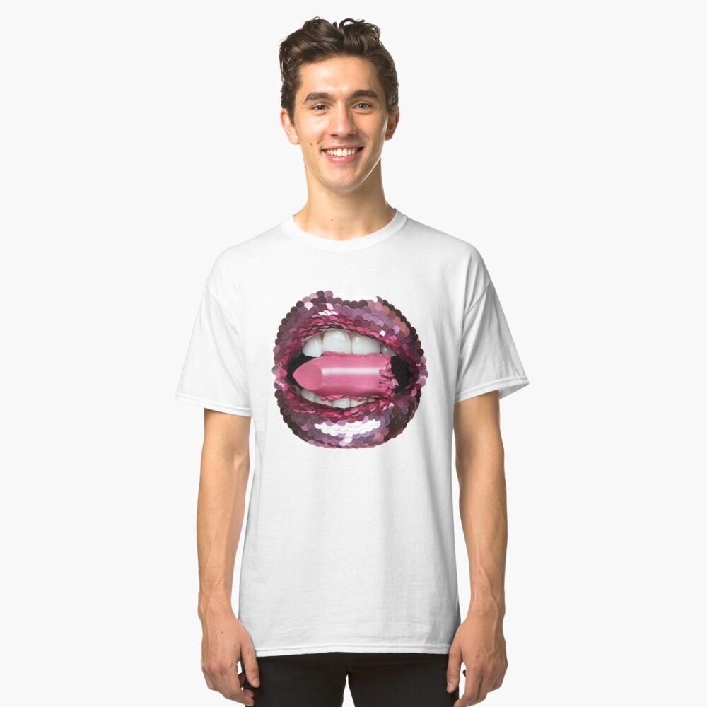 BLING BLING KISS EAT LIPSTICK Classic T-Shirt Vorne