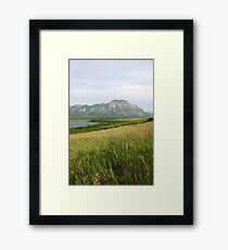 View from Middle Waterton Lake Framed Print