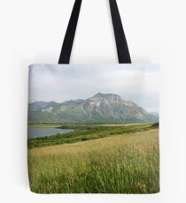 View from Middle Waterton Lake Tote Bag