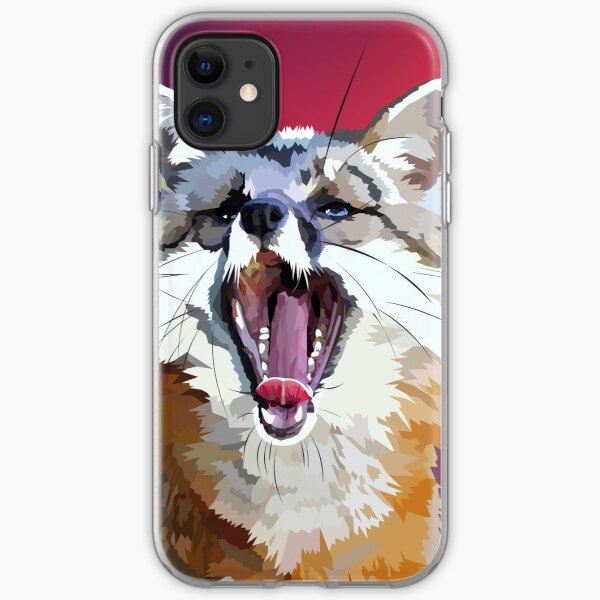 Yawning fox iPhone Soft Case
