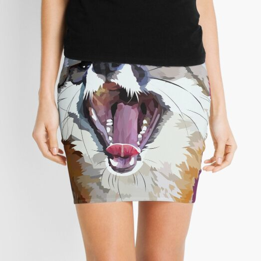 Yawning fox Mini Skirt
