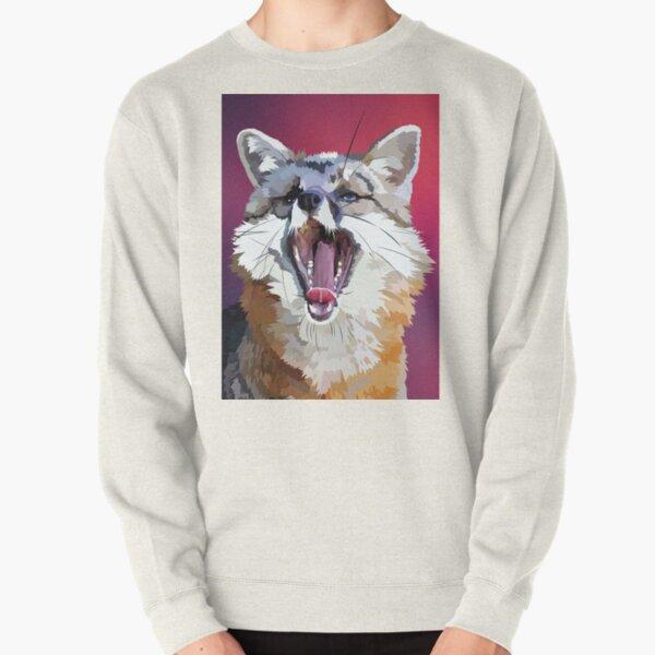 Yawning fox Pullover Sweatshirt