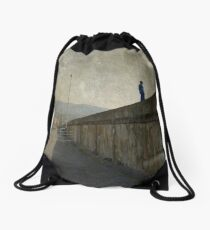 The other side of the wall Drawstring Bag