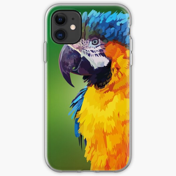 Parry the parrot iPhone Soft Case