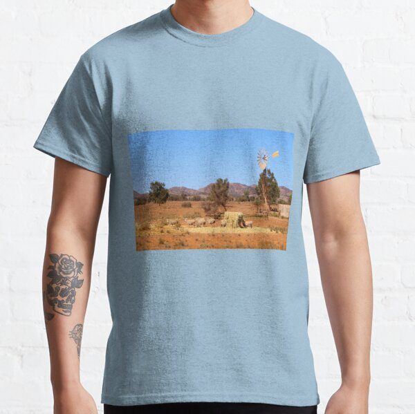 Sheep and windmill, Australia Classic T-Shirt