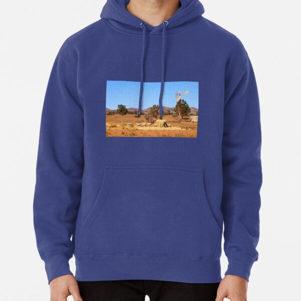 Sheep and windmill, Australia Pullover Hoodie