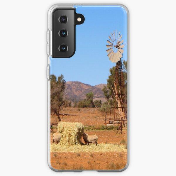 Sheep and windmill, Australia Samsung Galaxy Soft Case