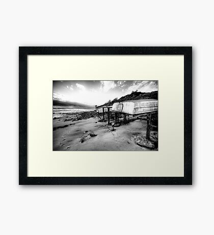 Old But Reliable (Monochrome) - Long Reef, Sydney- The HDR Experience Framed Print